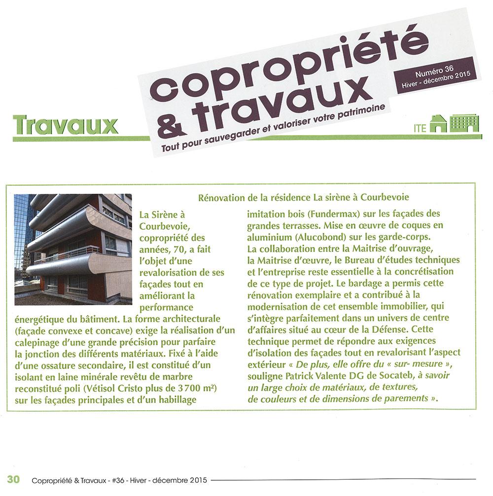 Presse - Copropriete travaux toiture ...